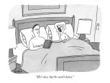 """""""He's nice, but he won't leave."""" - New Yorker Cartoon Premium Giclee Print by Peter C. Vey"""