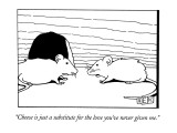 """""""Cheese is just a substitute for the love you've never given me."""" - New Yorker Cartoon Premium Giclee Print by Bruce Eric Kaplan"""