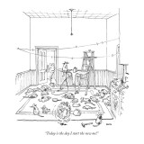 """Today is the day I start the new me!"" - New Yorker Cartoon Premium Giclee Print by George Booth"