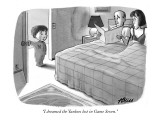"""I dreamed the Yankees lost in Game Seven."" - New Yorker Cartoon Premium Giclee Print by Harry Bliss"