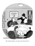 """An excellent defense. Let's give her the doctorate."" - New Yorker Cartoon Premium Giclee Print by J.B. Handelsman"
