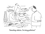 """""""Something collarless.  I'm being guillotined."""" - New Yorker Cartoon Premium Giclee Print by Arnie Levin"""