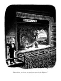 """""""Hate to bother you, but are you getting our supertitles for 'Rigoletto'?"""" - New Yorker Cartoon Premium Giclee Print by Ed Fisher"""