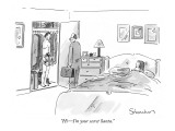 """Hi—I'm your secret Santa."" - New Yorker Cartoon Premium Giclee Print by Danny Shanahan"