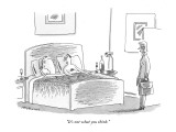 """""""It's not what you think."""" - New Yorker Cartoon Premium Giclee Print by Mick Stevens"""