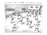 """Night of the Living Will."" - New Yorker Cartoon Premium Giclee Print by John O'brien"
