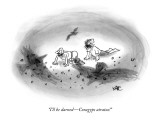 """I'll be darned—Coragyps atratus!"" - New Yorker Cartoon Premium Giclee Print by John Kane"