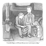 """I installed Skype, so it'll be just like you never went away to college."" - New Yorker Cartoon Premium Giclee Print by Tom Toro"