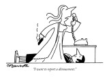 """""""I want to report a dénouement."""" - New Yorker Cartoon Premium Giclee Print by Charles Barsotti"""