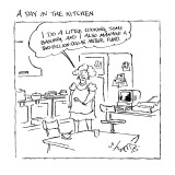A Day In The Kitchen - New Yorker Cartoon Premium Giclee Print by Sidney Harris