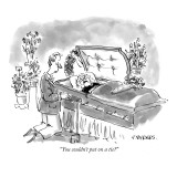 """""""You couldn't put on a tie?"""" - New Yorker Cartoon Premium Giclee Print by Pat Byrnes"""