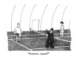 &quot;Insurance, anyone?&quot; - New Yorker Cartoon Premium Giclee Print by Mick Stevens