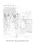 """Ah, New York—the great unfinished novel!"" - New Yorker Cartoon Premium Giclee Print by Richard Cline"