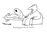 """And only you can hear this whistle?"" - New Yorker Cartoon Premium Giclee Print by Charles Barsotti"