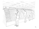 Greeting card aisle has full conversation through the categories of cards. - New Yorker Cartoon Premium Giclee Print by Paul Noth