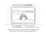 """And, in a move sure to attract the attention of regulators, the private s…"" - New Yorker Cartoon Premium Giclee Print by Robert Mankoff"