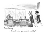 """Remember, now—you're sense, I'm sensibility."" - New Yorker Cartoon Premium Giclee Print by Mort Gerberg"