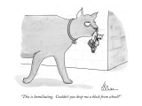 """This is humiliating.  Couldn't you drop me a block from school?"" - New Yorker Cartoon Premium Giclee Print by Leo Cullum"