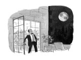 Man on balcony sees Earth in sky. - New Yorker Cartoon Premium Giclee Print by Mort Gerberg