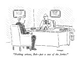 """Nothing serious, Bob—just a case of the forties."" - New Yorker Cartoon Premium Giclee Print by Robert Mankoff"