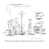 """They may be your grades, but they're the return on my investment."" - New Yorker Cartoon Premium Giclee Print by Barbara Smaller"