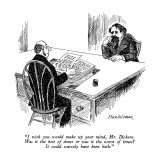 """I wish you would make up your mind, Mr. Dickens.  Was it the best of time…"" - New Yorker Cartoon Premium Giclee Print by J.B. Handelsman"