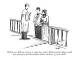 """And do you, Rebecca, promise to make love only to Richard, month after mo…"" - New Yorker Cartoon Premium Giclee Print by Tom Cheney"