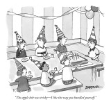 """The apple bob was tricky—I like the way you handled yourself."" - New Yorker Cartoon Premium Giclee Print by C. Covert Darbyshire"