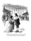 """The feedback I'm getting tells me that if your people work with my people…"" - New Yorker Cartoon Premium Giclee Print by Donald Reilly"