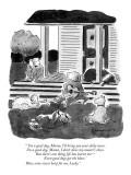 """ 'I'm a good dog, Mama, I'll bring you your daily news.  I'm a good dog, …"" - New Yorker Cartoon Premium Giclee Print by Danny Shanahan"