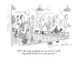 """If it's the reedy, gurgling 'cut-cut-turrrrr' of the long-billed marsh wr…"" - New Yorker Cartoon Premium Giclee Print by Danny Shanahan"