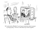 """As I said earlier, Michelle, I won't answer questions about economic or f…"" - New Yorker Cartoon Premium Giclee Print by David Sipress"