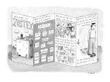 Pamphlet for crazy company called Zostex. - New Yorker Cartoon Premium Giclee Print by Roz Chast