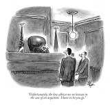 """Unfortunately, the law allows me no leeway in the case of an acquittal.  …"" - New Yorker Cartoon Premium Giclee Print by Frank Cotham"