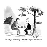 """Would you mind terribly if I took back my last three moves?"" - New Yorker Cartoon Premium Giclee Print by W.B. Park"