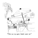 """That was my agent.  Seattle wants me."" - New Yorker Cartoon Premium Giclee Print by Richard Cline"
