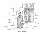 """Psssst!  Hot dog?"" - New Yorker Cartoon Premium Giclee Print by Mick Stevens"