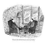 """Travel is the sherbet between courses of reality."" - New Yorker Cartoon Premium Giclee Print by Victoria Roberts"