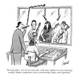 """Not bad, fellas.  Let's do one more take, with more emphasis on tone, har…"" - New Yorker Cartoon Premium Giclee Print by Tom Cheney"