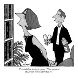 """I've had those books for years.  They represent the person I once aspired…"" - New Yorker Cartoon Premium Giclee Print by William Haefeli"
