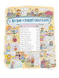 Big Book of Parent-Child Fights' - New Yorker Cartoon Premium Giclee Print by Roz Chast