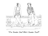 """I'm Number One?  Who's Number Two?"" - New Yorker Cartoon Premium Giclee Print by Richard Cline"