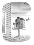 Bates Motel Birdhouse - New Yorker Cartoon Premium Giclee Print by Harry Bliss