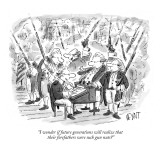 """I wonder if future generations will realize that their forefathers were s…"" - New Yorker Cartoon Premium Giclee Print by Christopher Weyant"