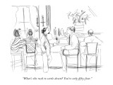 """What's the rush to settle down? You're only fifty-four."" - New Yorker Cartoon Premium Giclee Print by Richard Cline"