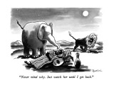 """Never mind why.  Just watch her until I get back."" - New Yorker Cartoon Premium Giclee Print by Eldon Dedini"