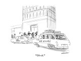 """Oh-oh."" - New Yorker Cartoon Premium Giclee Print by James Stevenson"