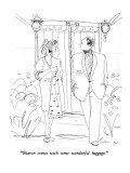 """Sharon comes with some wonderful baggage."" - New Yorker Cartoon Premium Giclee Print by Richard Cline"