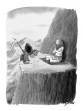 The Grim Reaper visits a guru on a mountaintop. - New Yorker Cartoon Premium Giclee Print by Harry Bliss