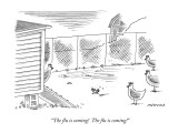 """The flu is coming!  The flu is coming!"" - New Yorker Cartoon Premium Giclee Print by Mick Stevens"